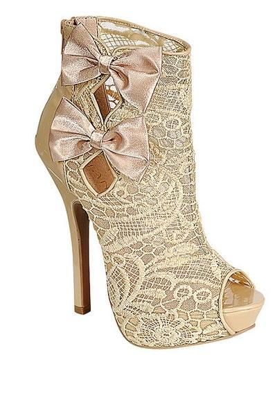 image of Christian Louboutin Lace Wedding Shoes ♥ Chic and Fashionable Wedding High Heel Shoes
