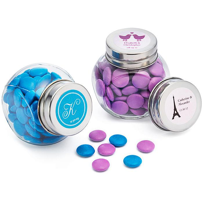 Wedding Candy Personalized Mini Candy Jar Favors 1181976 Weddbook