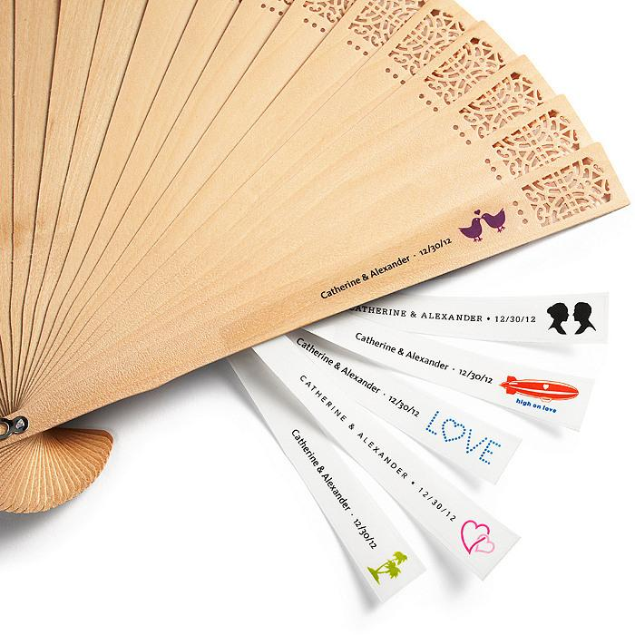 Wedding Gifts Personalized Hand Fan Labels 1182002 Weddbook
