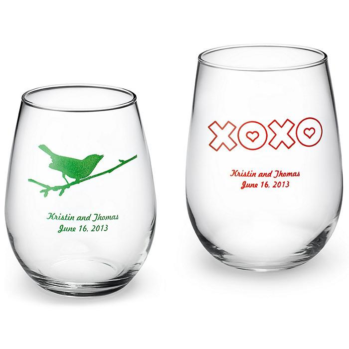 Wine Wedding Personalized Stemless Wine Glass 1182013