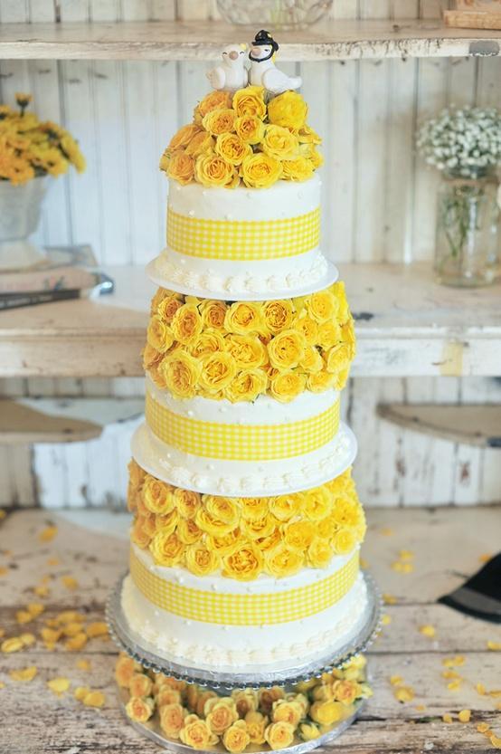 Yellow Wedding - Cakes #1254850 - Weddbook