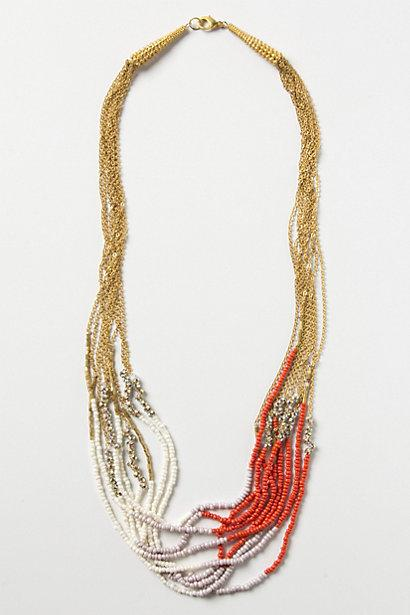 Mariage - Twisted Collier Corail brins
