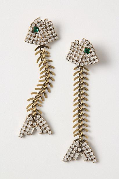 Special Design Swarovski Crystal Fishbone Earrings