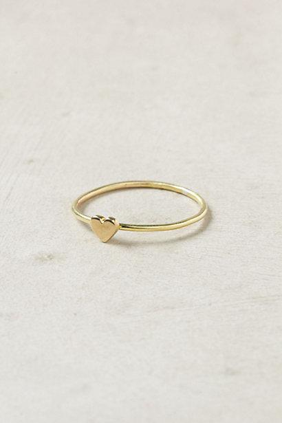 Mariage - Simple and Chic Gold Heart Wedding Ring