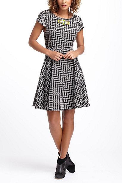 زفاف - Jacquard Circle-Skirt Dress - B
