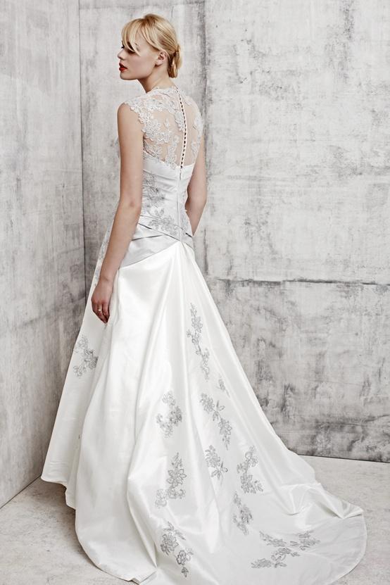 Wedding - Lace Back Wedding Dress