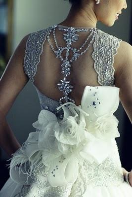 Wedding - Veluz Reyes Bridal Collection ♥ Low Back Dedding Dress with Swarovski Details