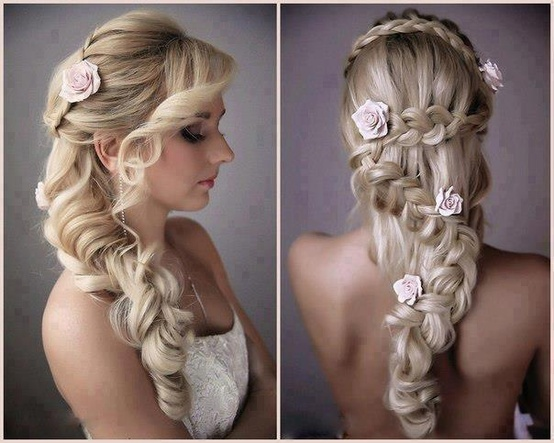 Wedding - Roses Braid Wedding Hairstyle  ♥ Gorgeous Wedding Hairstyles for Long Hair