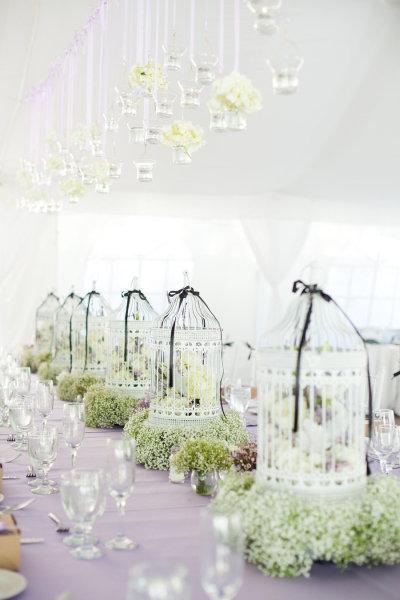 Wedding - Gabbie per uccelli da sposa Centrotavola