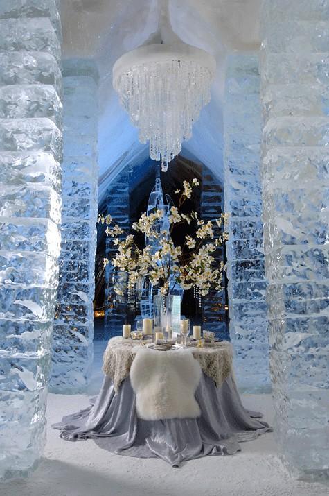 Ice hotel in jukkasj rvi sweden unique winter wedding for Glace decoration