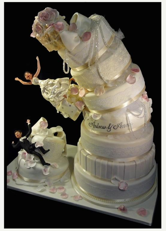 Creative Wedding Cake Funny Wedding Cake 1849802 Weddbook - Coolest Wedding Cakes