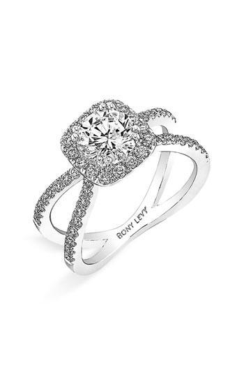 Mariage - Luxe Crisscross anneau de mariage de diamant ♥ Bague de fiançailles de diamant parfait