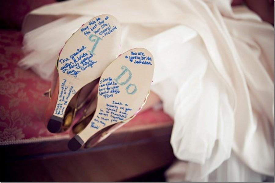 Names And Messages On The Soles Of Your Wedding Shoes I Do Shoe Rhinestone Applique Stickers