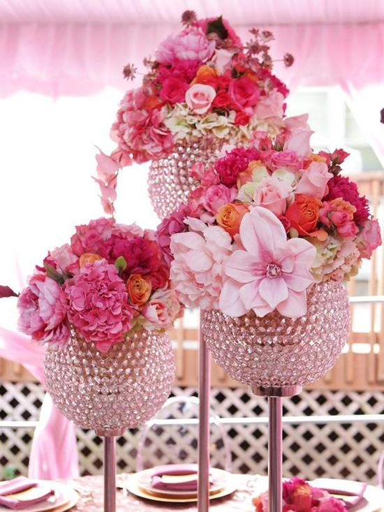 Wedding  PInk   Bling Wedding Decor Ideas