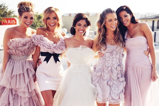 Trendy Mismatched Bridesmaid Dresses Hy Photos