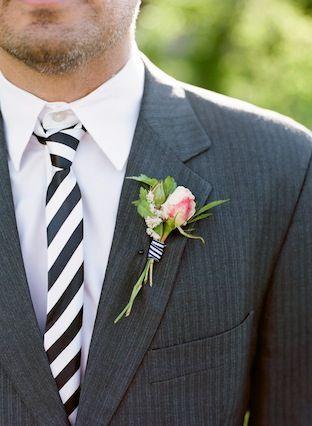 Свадьба - Черное & White Stripes