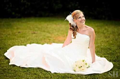 Wedding - Laying Around...you Know...in A Wedding Dress