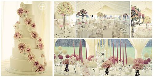Wedding - Kate & Glynn - Falling Flowers Wedding Cake