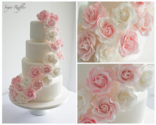 Rose Hochzeit Pink Rose Cascade Hochzeitstorte 1987599 Weddbook