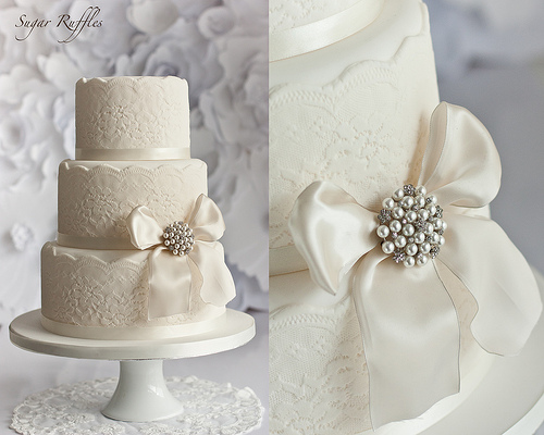 What Kind Of Ribbon To Use On A Wedding Cake