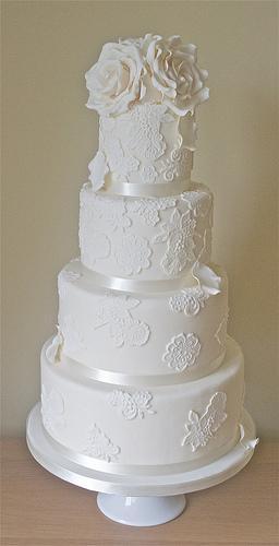 Mariage - Dentelle gâteau de mariage