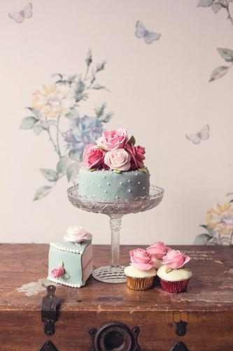 Wedding - Cath Kidston Inspired Cake And Cupcakes