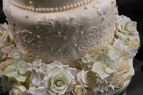 Wedding - Lace Cake Bottom Tier