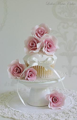 Свадьба - Розовые розы Кекс