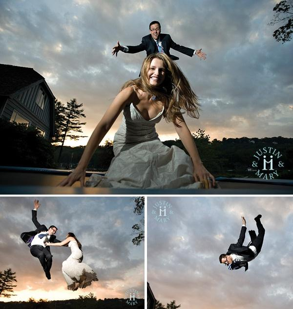 photo creative wedding photo idea trampoline 2027049