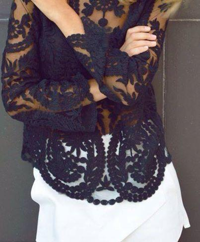 Lace Blouse Black | Fashion Ql