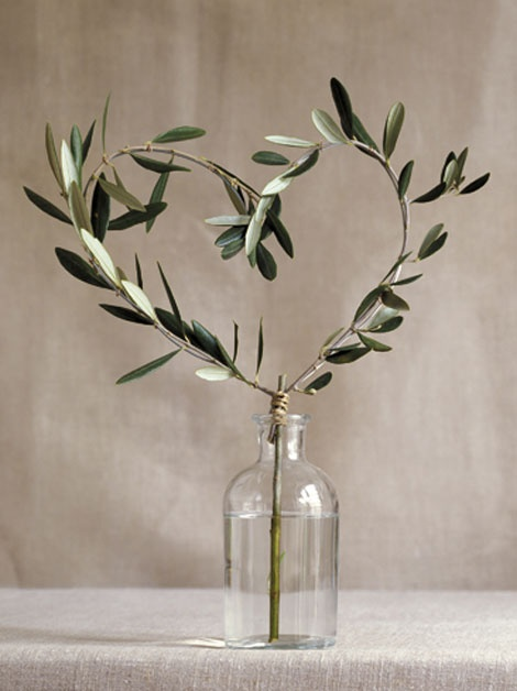 Diy olive tree branch hg weddbook