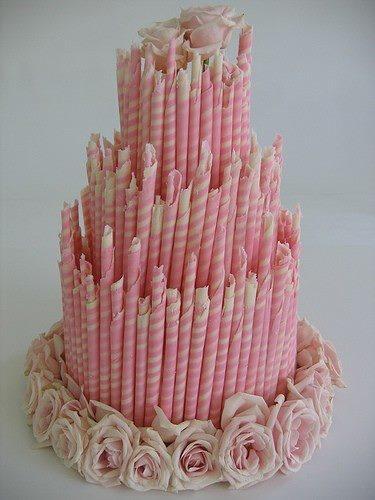 Wedding Cakes - Pink Wedding Cake Alternative #2028105 - Weddbook