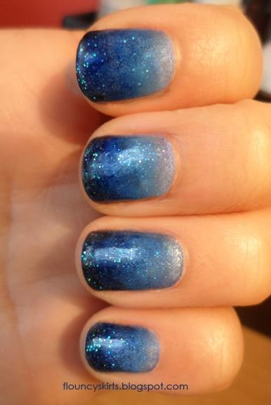Свадьба - Gradient Manicure How To