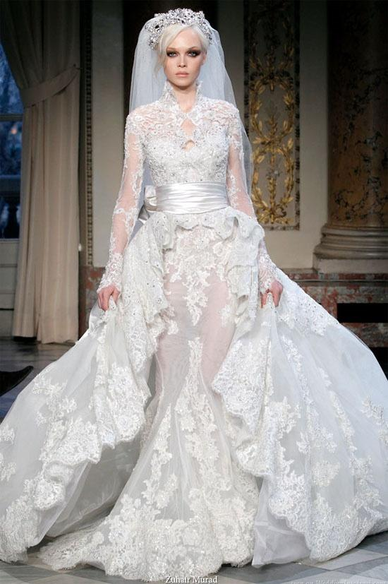 Gorgeous White Lace Wedding Dress By Zuhair Murad