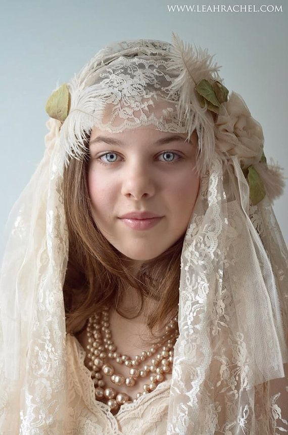 1920 S Downton Abbey Style Juliet Veil In Blush Color By Ruby Cordelia