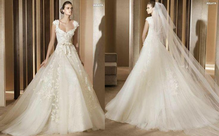 Wedding Dresses - Modest Cap Sleeves Lace Wedding Dress #2041379 ...