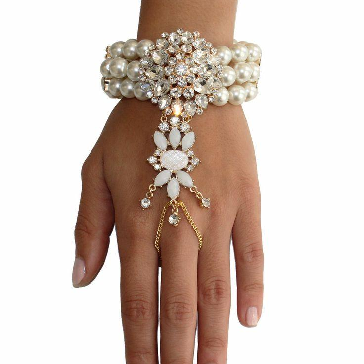 Accessories - Wedding Bracelet Decorated With Pearls ...