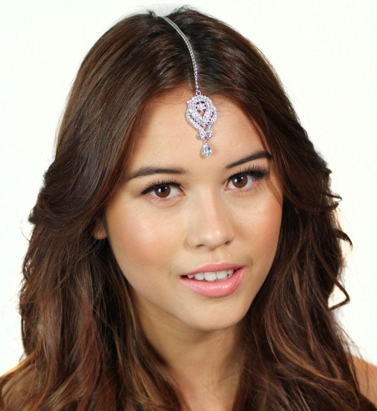 Crystal Flower Tikka Headpiece