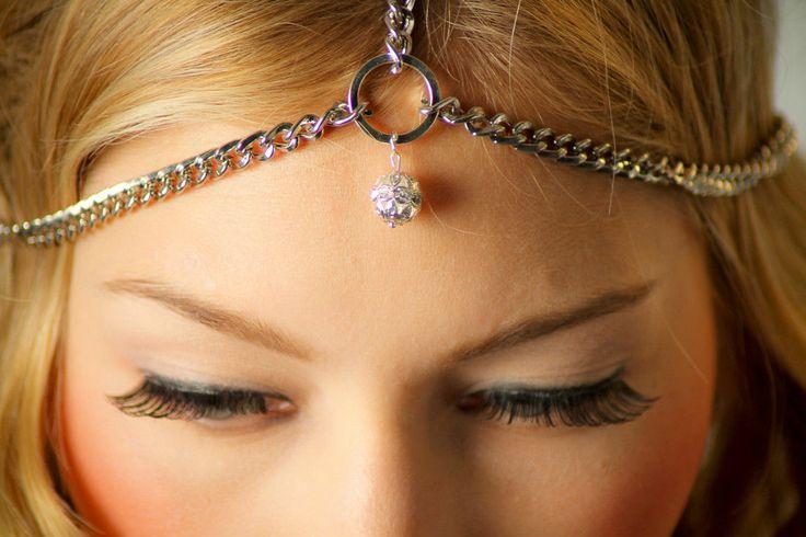 Mariage - Cristal Cercle de charme de Rhinestone Bandeau chaîne