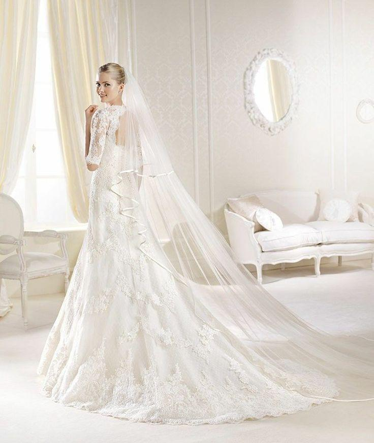Wedding Dresses Sophisticated Satin White Wedding Gown 2043176