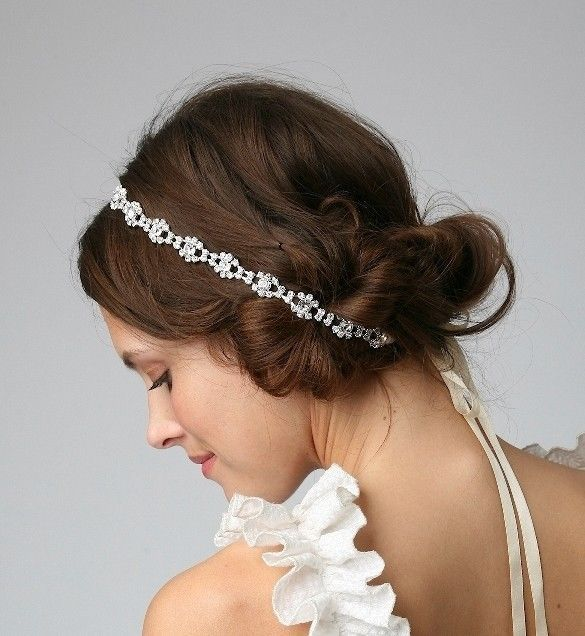 bridal hair accessories satin ribbon with