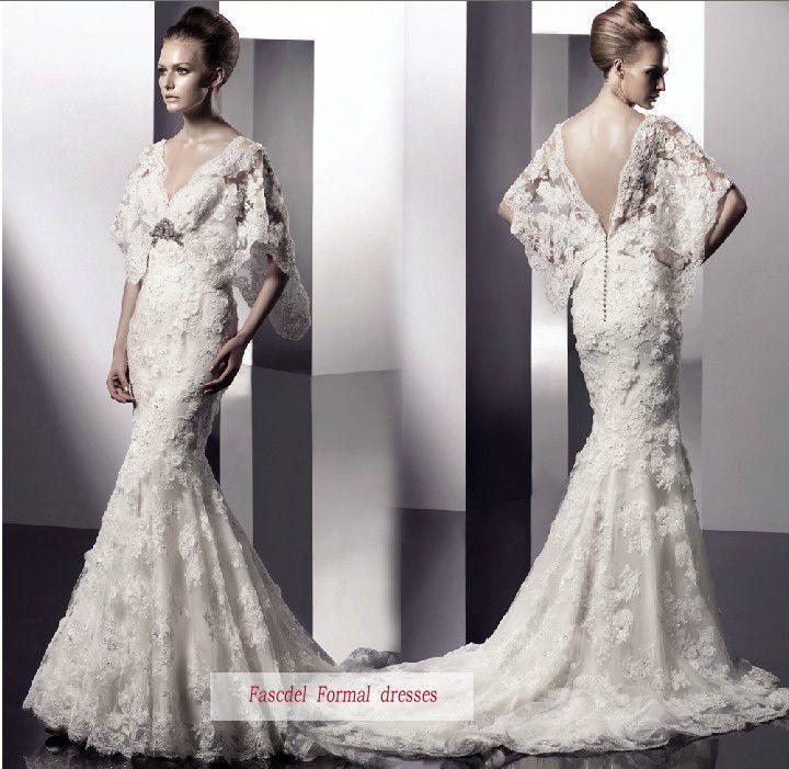 Amazing White Wedding Dress With V-shaped Back #2043965 - Weddbook