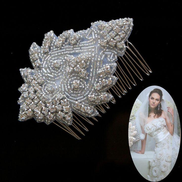 Свадьба - Цветок Горный Хрусталь Свадебные Расчесывать Волосы Волос Аксессуары