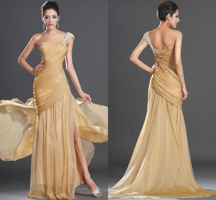 New One Shoulder Beaded Party Pageant Prom Ball Gowns #2046631 ...