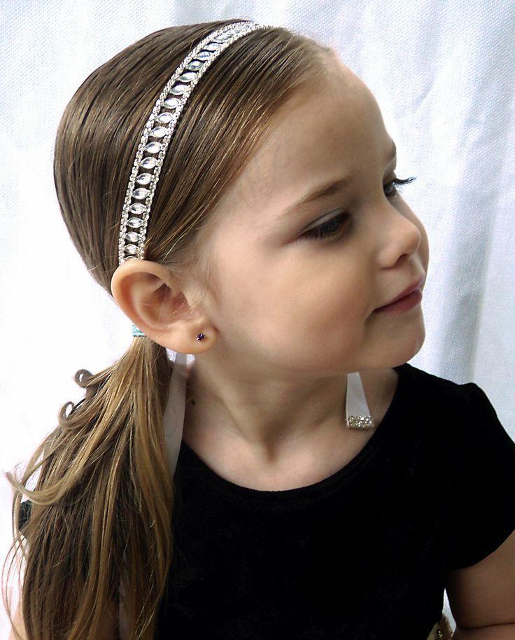 Flower Girl Hair Communion Rhinestone Headband With Ribbon  2047090 ... 755bd6702b8