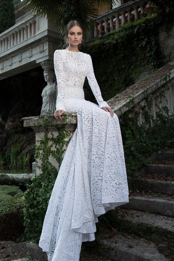 Elegance Of   Wedding Dresses : Elegance custom wedding dresses long sleeves mermaid lace