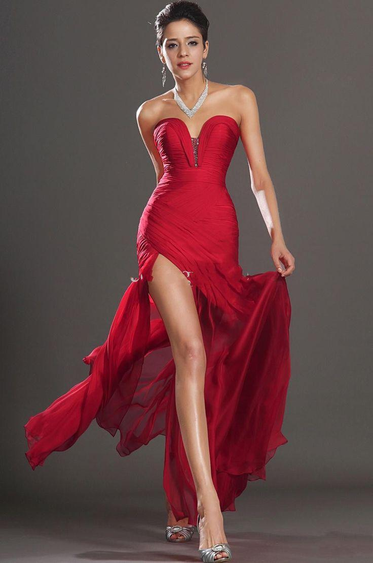 Evening Dress With High Slits - Prom Dresses Cheap