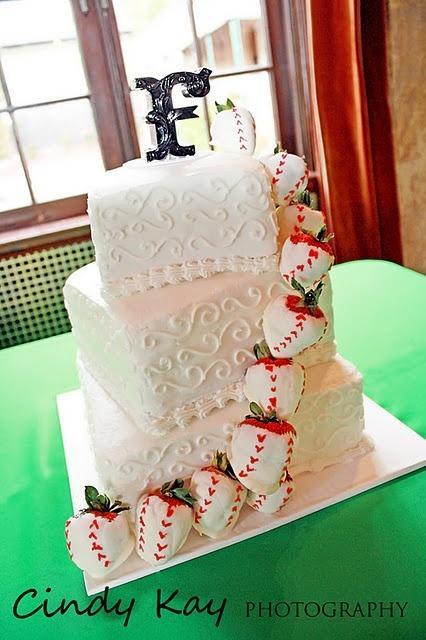 Wedding - Baseball Wedding Cake