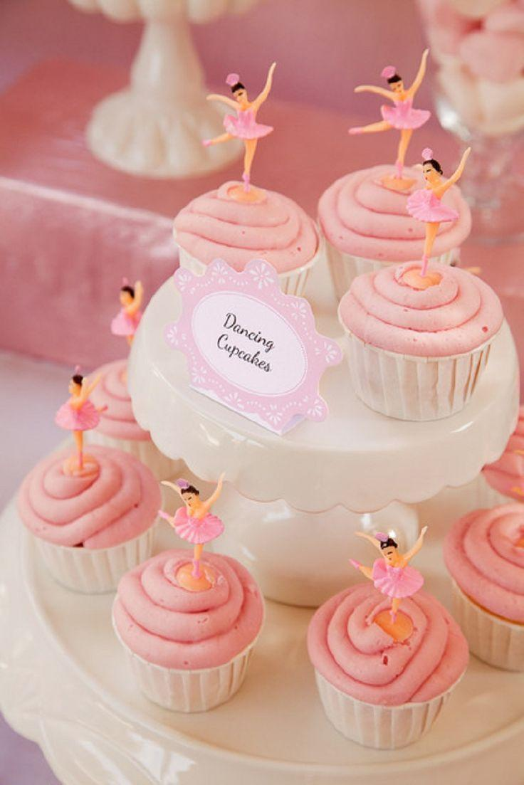 Wedding Cupcakes - Cute Pink Cupcakes With A Dancing Bride #2051818 ...