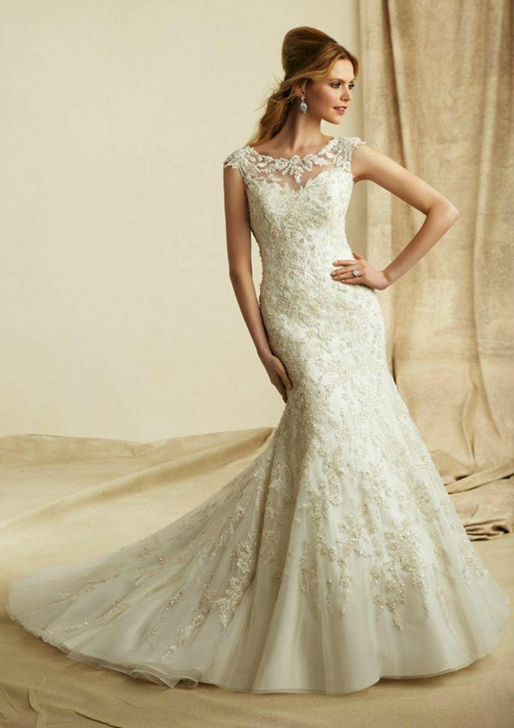 Wedding dresses sexy white lace mermaid wedding dress for Custom mermaid wedding dress